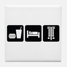 Eat Sleep Drag Tile Coaster