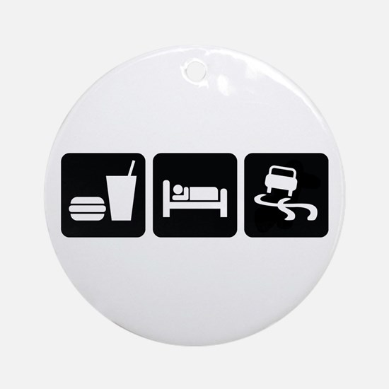 Eat Sleep Drift Ornament (Round)