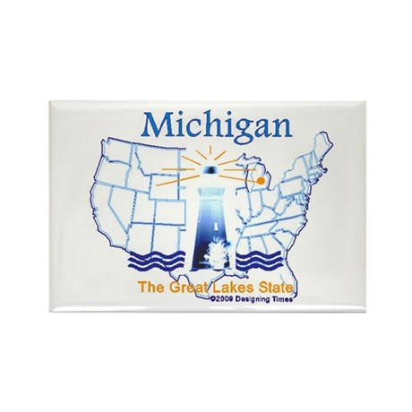 State of Michigan Rectangle Magnet