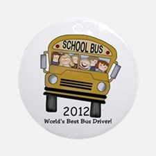 School Bus Driver Ornament (Round)