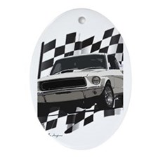 Cute 1966 ford mustang Oval Ornament