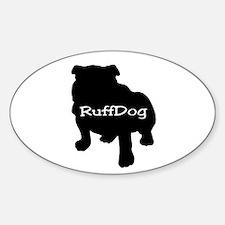 RuffDog Oval Decal