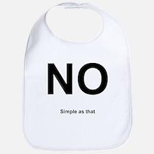 NO! Simple as that. Bib