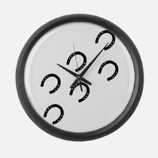 Horse Tracks Large Wall Clock