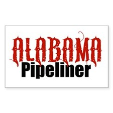 Alabama Pipeliner 3 Rectangle Decal