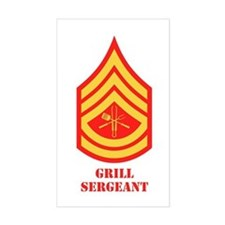 Grill Sgt. Rectangle Decal