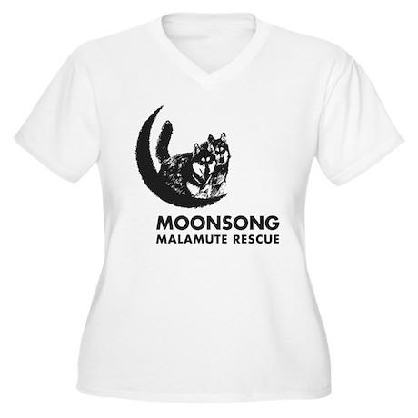 Moonsong Mal Women's Plus Size V-Neck T-Shirt