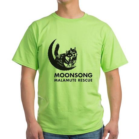 Moonsong Malamute Rescue Green T-Shirt