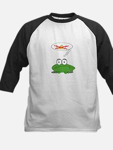 Sad Frog Prince Kids Baseball Jersey