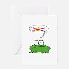 Sad Frog Prince Greeting Card