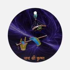 Krishna - The Flute Player Ornament (Round)