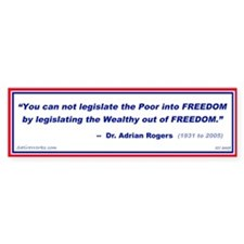 Legislating Freedom Bumper Bumper Sticker