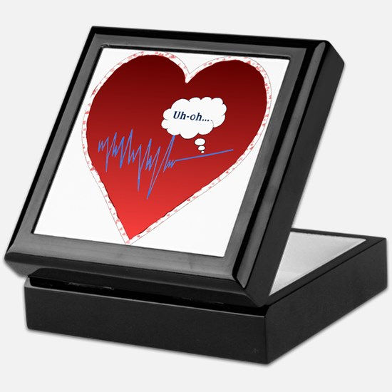 Uh Oh FlatlineTri-v Keepsake Box
