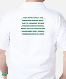 List of what Landscape Architects do - Golf Shirt