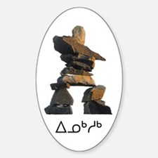 Inukshuk Oval Decal