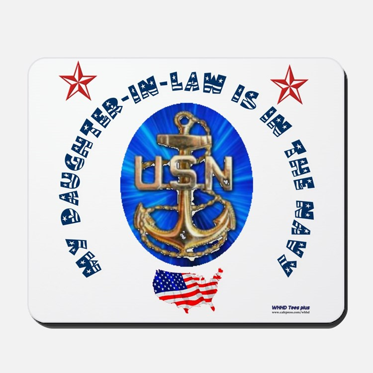 Navy Daughter-In-Law Mousepad
