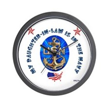 Navy Daughter-In-Law Wall Clock