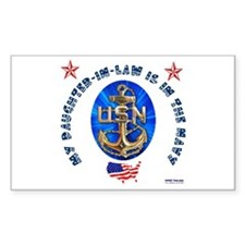 Navy Daughter-In-Law Rectangle Decal