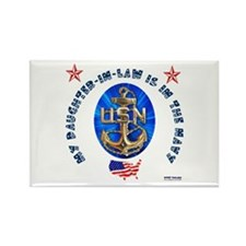 Navy Daughter-In-Law Rectangle Magnet