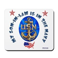 Navy Son-In-Law Mousepad