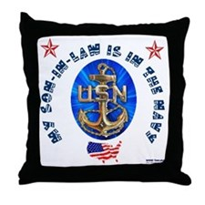 Navy Son-In-Law Throw Pillow