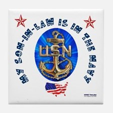 Navy Son-In-Law Tile Coaster