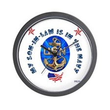 Navy Son-In-Law Wall Clock