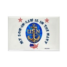 Navy Son-In-Law Rectangle Magnet