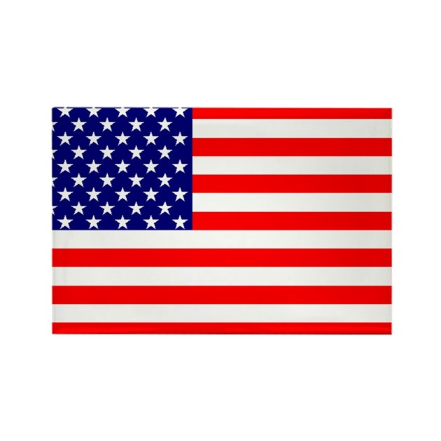 American Flag Rectangle Magnet By Designcompany