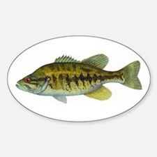 Smallmouth Bass Oval Decal
