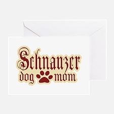 Schnauzer Mom Greeting Card