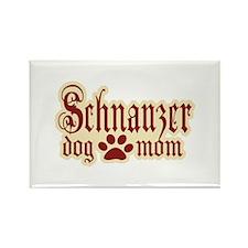 Schnauzer Mom Rectangle Magnet (100 pack)