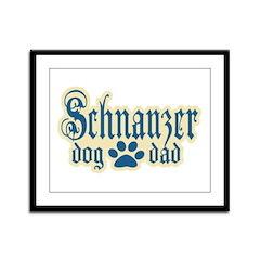 Schnauzer Dad Framed Panel Print
