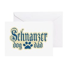 Schnauzer Dad Greeting Card