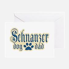 Schnauzer Dad Greeting Card