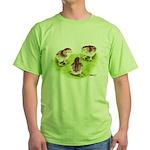 Silver Grey Dorking Chicks Green T-Shirt