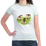 Silver Grey Dorking Chicks Jr. Ringer T-Shirt