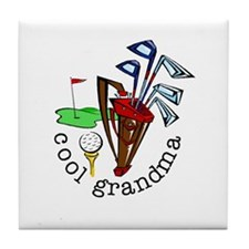 GOLF GRANDMA Tile Coaster