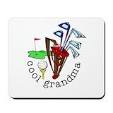 Grandma golf Mouse Pads