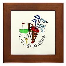GOLF GRANDMA Framed Tile