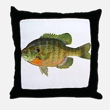 Bluegill Bob Throw Pillow