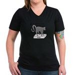 Soapbox Kat Women's V-Neck Dark T-Shirt