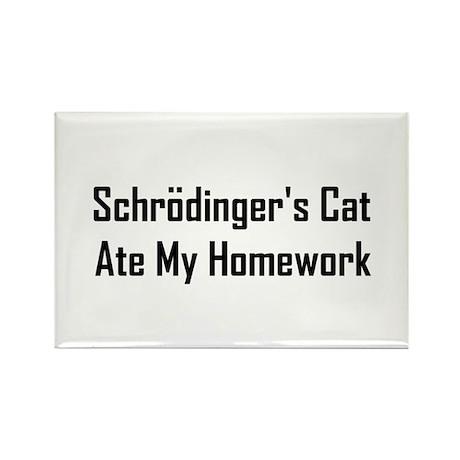 Schrodinger's Cat Ate Rectangle Magnet