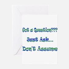 Don't Assume - Green Greeting Cards (Pk of 10)