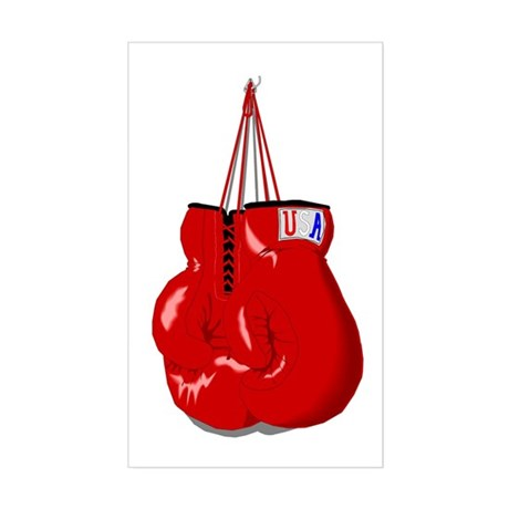 Boxing Gloves Rectangle Sticker