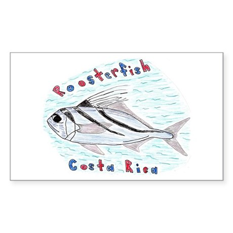 Roosterfish Rectangle Sticker