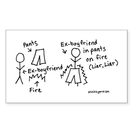 Liar, Liar Rectangle Sticker