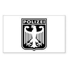 Polizei Rectangle Decal