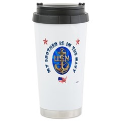Navy Brother Travel Mug