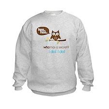 big sister to be shirts owl Sweatshirt